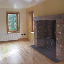 Masonry fireplace and stove